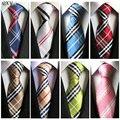 Terno e gravata de seda da forma impressa poliéster dos homens gravata listrada Gravata business casual gravata dos homens da manta clássico