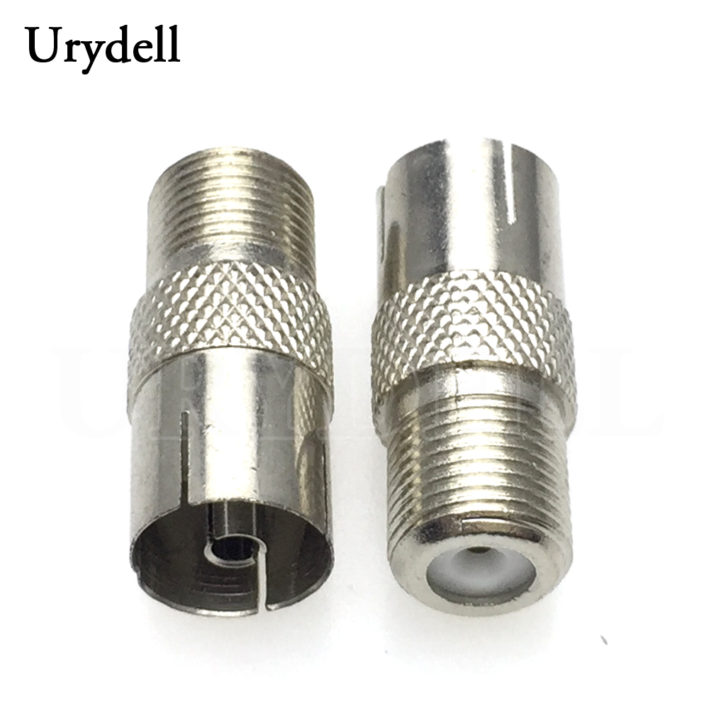F Male to PAL Female SOCKET Jack Straight RF coaxial adapter F-type connector TV
