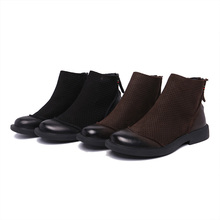 Chelsea Boots Mens sandals Genuine Leather Summer Leisure British retro all-match cowhide combat boots cowboy men