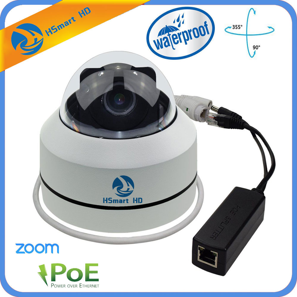 Mini PTZ Dome Camera IP 1080P Full HD Onvif 3X Zoom P2P H.264 30m IR Night Vision Waterproof 2MP Outdoor Dome POE PTZ IP Camera цена