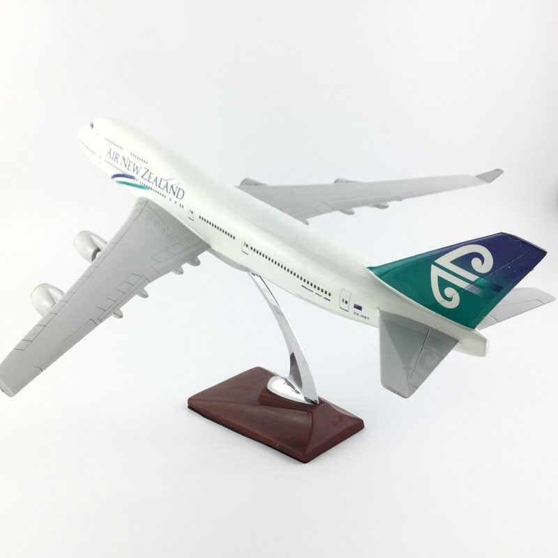 Air new zealand airlines 45-47 boeing747 modelo de aviones de Nueva Zelanda simulación de Navidad juguete para regalo para niños