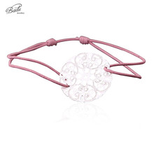 Badu Elastic String Bracelet Hollow Out Flower Friendship Bracelets Gift Girls Fashion Simplicity Charm Jewelry stylish rhinestone hollow out elastic bracelet for women