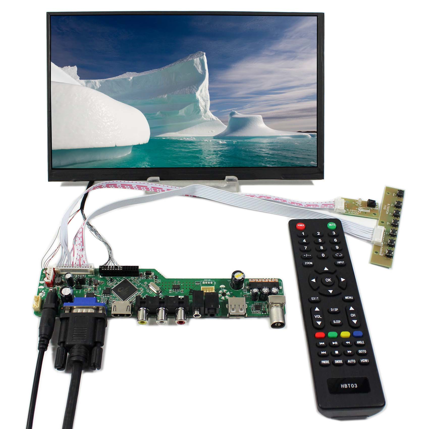 TV+HDMI+VGA+AV+USB+AUDIO LCD Controller Board With 10.6inch 1366X768 LTL106AL01 IPS LCD Screen hdmi vga av audio usb control board 10 6inch ltl106al01 1366 768 ips lcd panel screen model lcd for raspberry pi