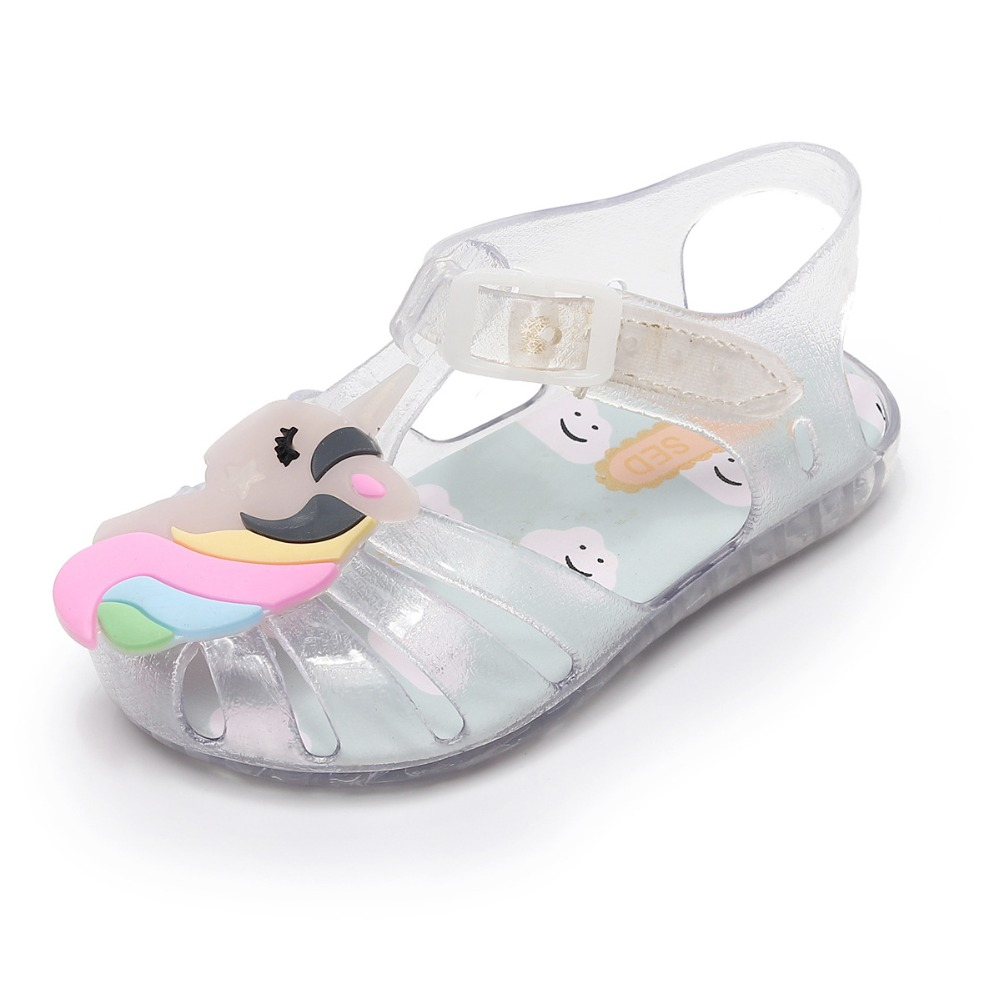 2018 New Style Summer Jelly Baby sandals shoes Hot sale Unicorn Baby Moccasins Child Baby Girl Baby Boy Beach Sandals