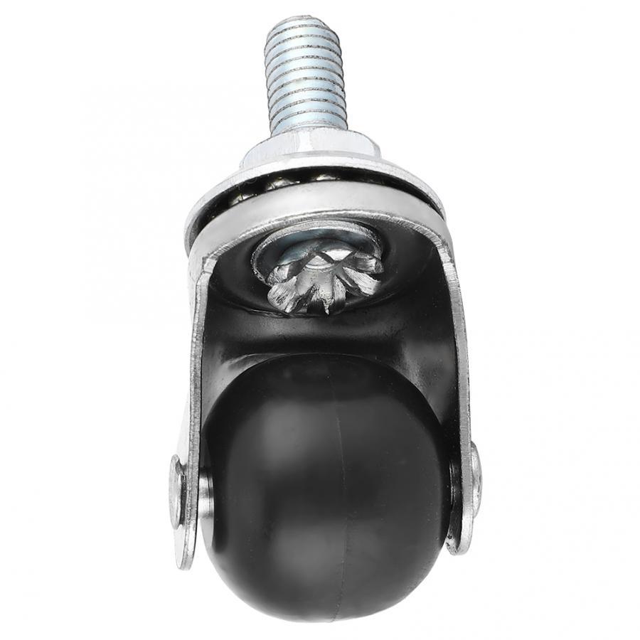 4 pces 1 polegada de borracha pp rodas escritório cadeiras rodízio giratório rosqueado roda rodízio substituição para rodas rodízio móveis trole-1