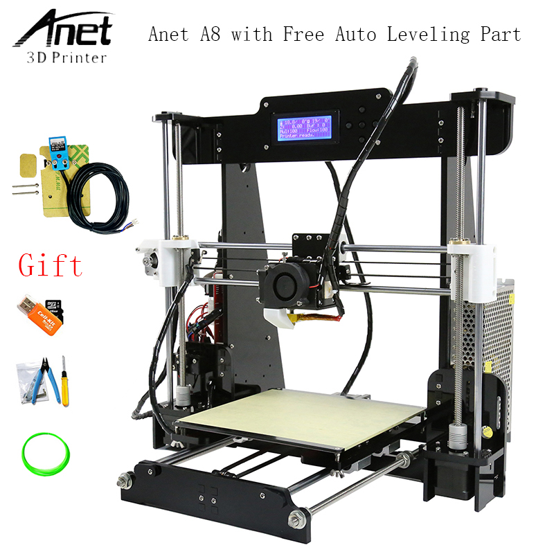 Anet A8 Auto Leveling 3d Printer Upgraded Reprap i3 DIY 3D Printer Kit with Aluminum Heating