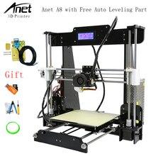 Анет A8 автоматическое выравнивание 3D-принтеры обновлен Reprap i3 DIY 3D-принтеры комплект с Алюминий нагревательного элемента и Бесплатный SD Card нити