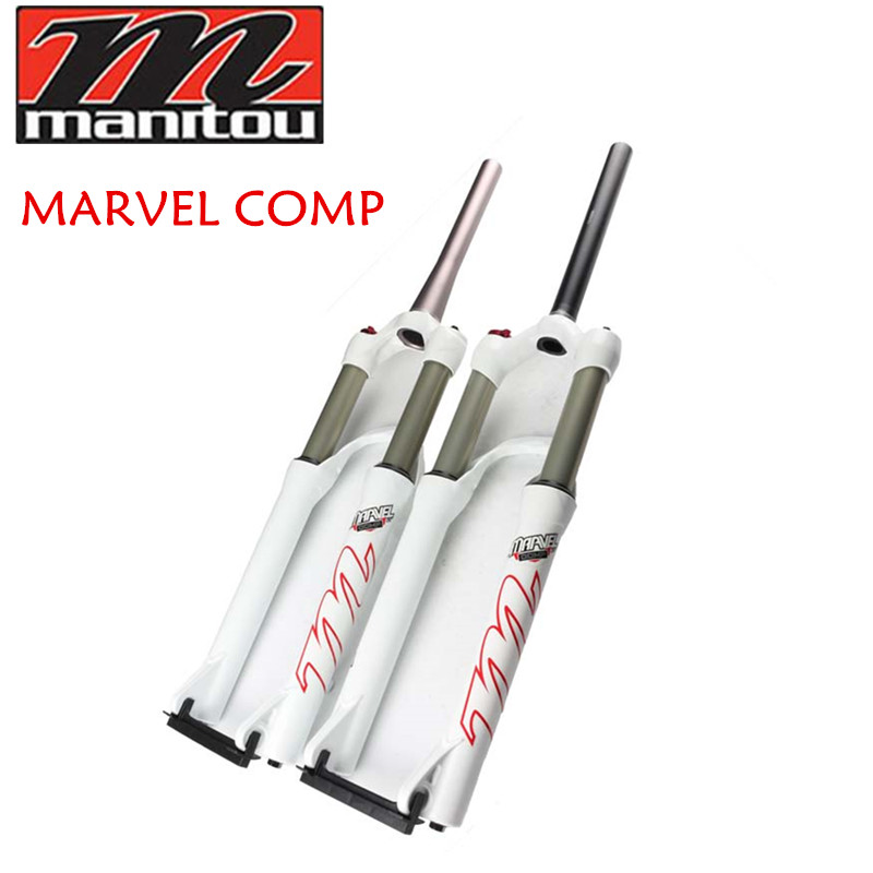 Best price! Manitou Marvel Comp 26er Mountain bike bicycle mtb Suspension Fork white color Straight/taper pipe чиносы best mountain best mountain be534emkun71