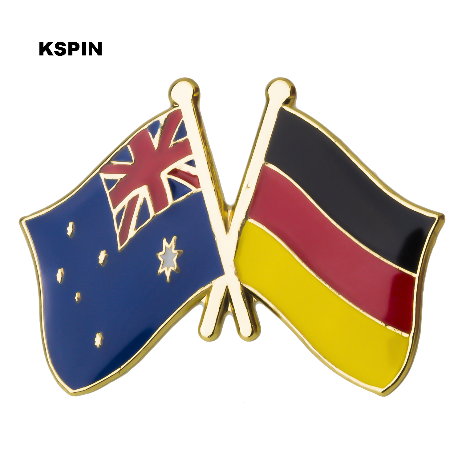 Apparel Sewing & Fabric Home & Garden Australia Germany Friendship Flag Label Pin Metal Badge Badges Icon Bag Decoration Buttons Brooch For Clothes 1pc