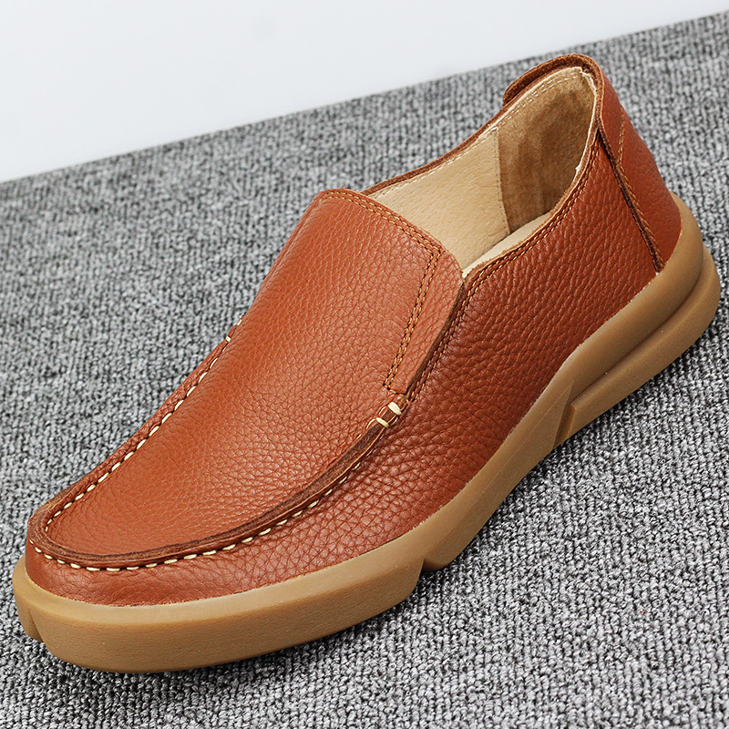 Genuine Leather big size men shoes luxury brand all match cowhide loafer shoes Driving shoes soft spring autumn summer in Men 39 s Casual Shoes from Shoes