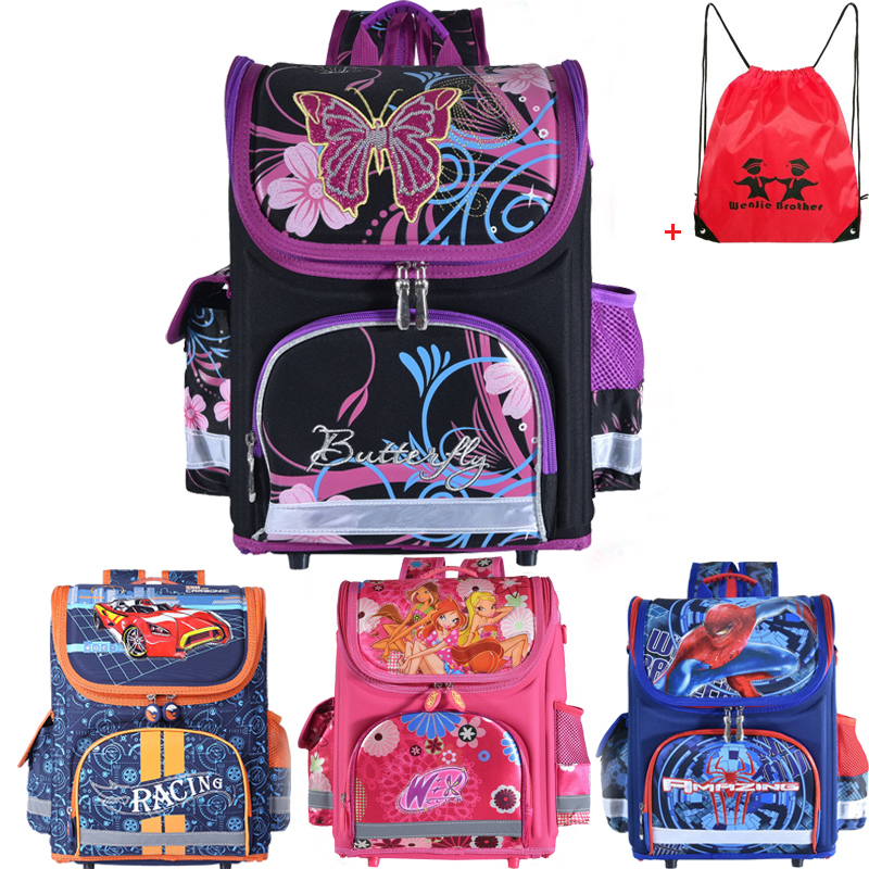 New Winx School Bag Orthopedic Girls Princess Children School Bags Sofia the First Monster High School Backpack Mochila Infantil