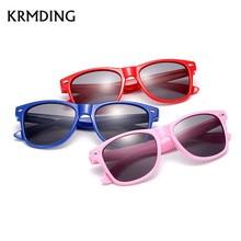 KRMDING 2018 Fashion Brand Kids Sunglasses Child Black Sun Glasses Anti-uv Baby Sun-shading Eyeglasses Girl Boy Sunglass