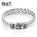 Beier Thailand import silver sterling Hand knitting classic bracelet for men High-end design Fine Jewelry J925SL044 B