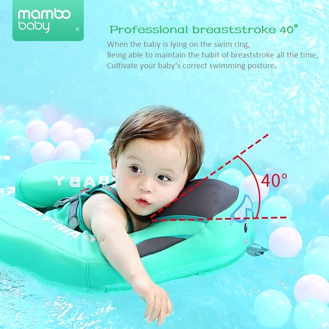 Baby Infant Non-Inflatable Float Lying Swimming Ring Children Waist Float Ring Floats Pool Toys Swim Trainer Sunshade Swim Ring 2