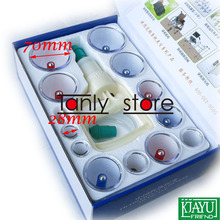 Gift 2 pcs guasha board! Wholesale & Retail Traditional Acupuncture Massage Tools cupping kit 12pcs/set