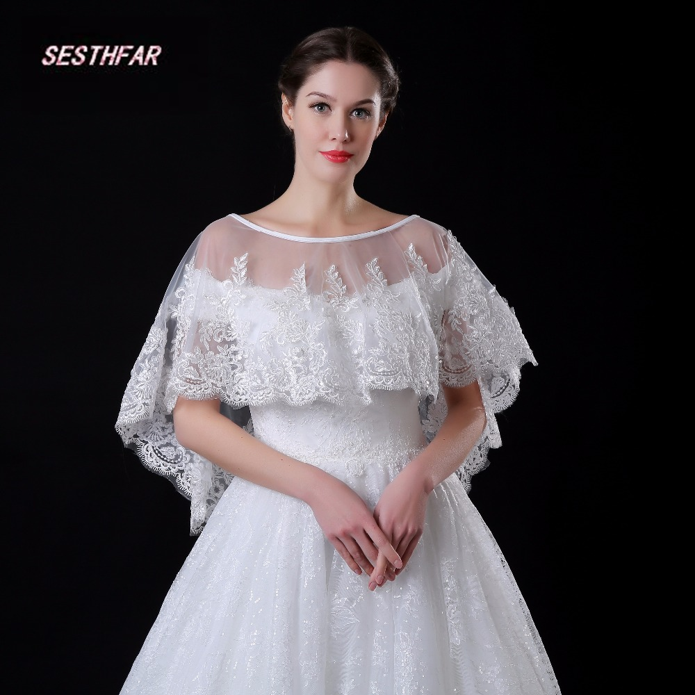 White Lace Bridal Bolero 2017 Wedding Bolero Women Shawl