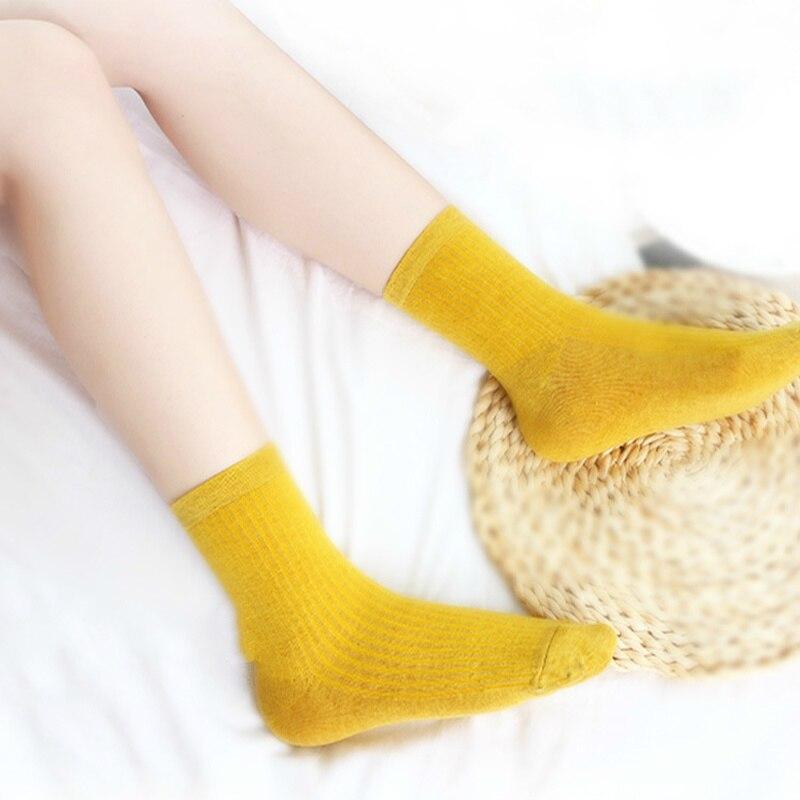 IOLPR Harajuku Women Socks Cotton Socks Women Winter New Cotton Solid Color Spiral Vertical Stripe Cute College Wind Art Socks in Socks from Underwear Sleepwears
