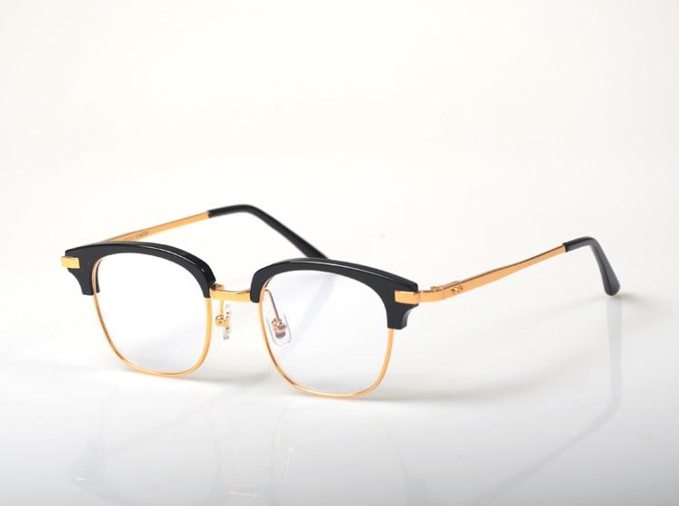 Vintag prescription lunettes cadre hommes cadres optiques femmes rétro clair lentille demi-jante lunettes cadre femme Spectacle
