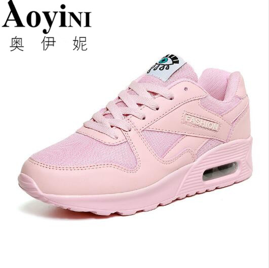 2017 Autumn Fashion Breathable Women Shoes Women Casual Shoes Outdoor Walking Shoes Women Lace-up Wedge Platform Shoes free shipping candy color women garden shoes breathable women beach shoes hsa21