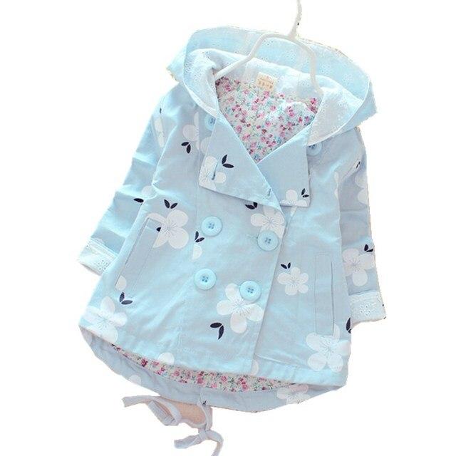 2016 Новые Весенние и Осенняя мода для девочек Повседневная ветровка с капюшоном верхняя одежда для ребенка пальто Детская куртка детская одежда m1533