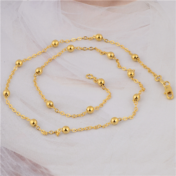 Gussiarro	Fashion Stunning  Yellow Gold-color Women's Bead Link Simple Chain Necklace No Nickel 19 Inches Accessories
