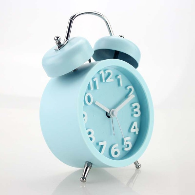 Hot Sale 4 Inch Metal Alarm Clock Twin Bell Double Europe with Backlight Quartz Single Face Needle Circular