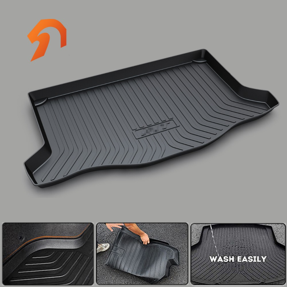 Custom fit car trunk mat for HONDA FIT ODYSSEY CR-V CIVIC CIIMO CITY BOOT LINER REAR TRUNK CARGO MAT FLOOR TRAY CARPET MUD COVER lsrtw2017 car styling car trunk trims for honda crv 2017 2018 5th generation
