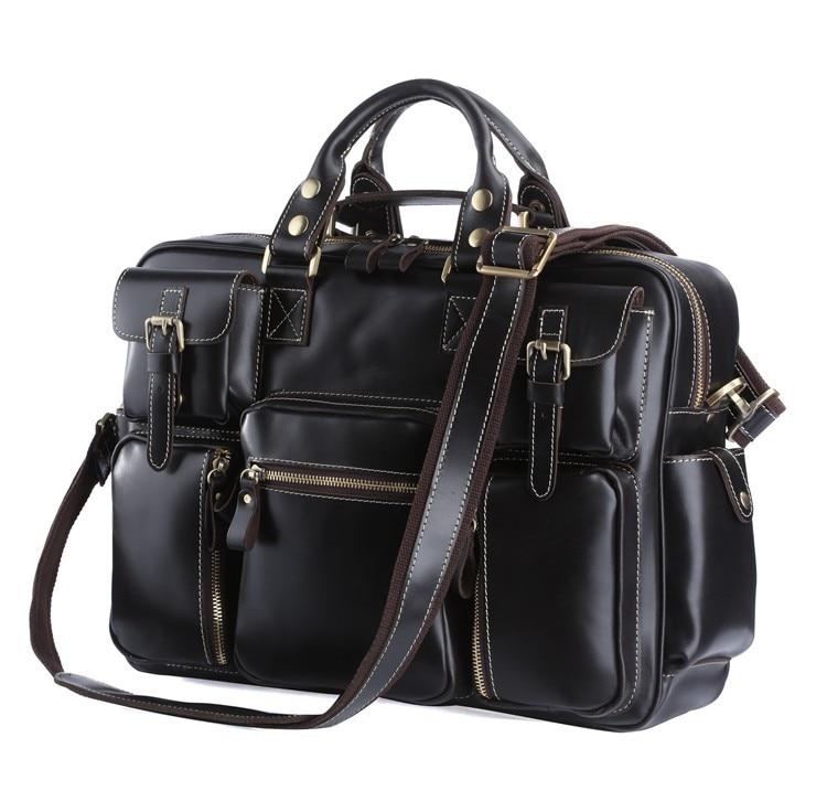 Hot Sale High Quality Genuine Leather JMD Men Travel Bags Handbags Shoulder Bags Messenger Bags 7028A hot sale high quality vintage cross body jmd men leather messenger bags shoulder bags 7121c