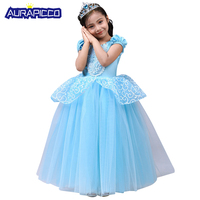 Toddler Girl Baby Blue Princess Dress Cinderella Costume Child Halloween Fancy Dress Birthday Party Ball Gown Canival Cosplay