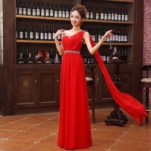 Новые Элегантные платья невесты принцессы красное шифоновое