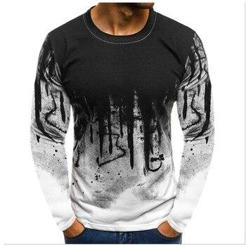 Los hombres estampado de camuflaje hombre T camisa mujer Camiseta Tee superior hombre hip hop Streetwear manga larga Fitness camisetas Dropshipping. Exclusivo.