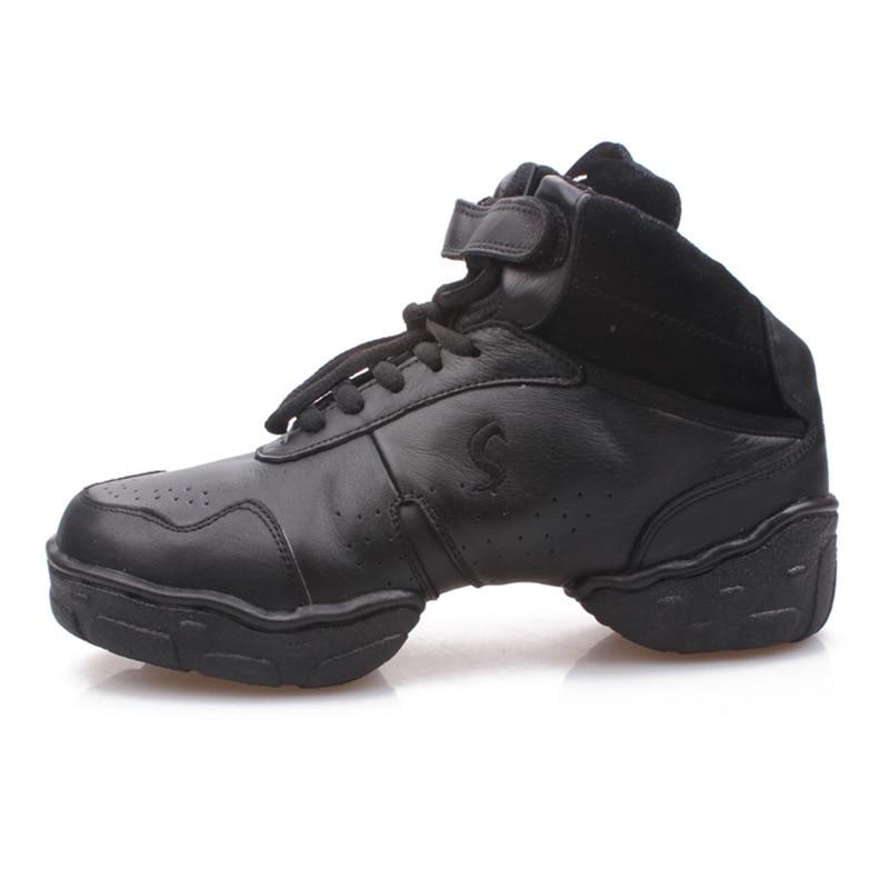 Sapatos de jazz mulher esportes tênis crianças sapatos de dança de couro feminino branco quatro quadrados sapatos de dança de fitness