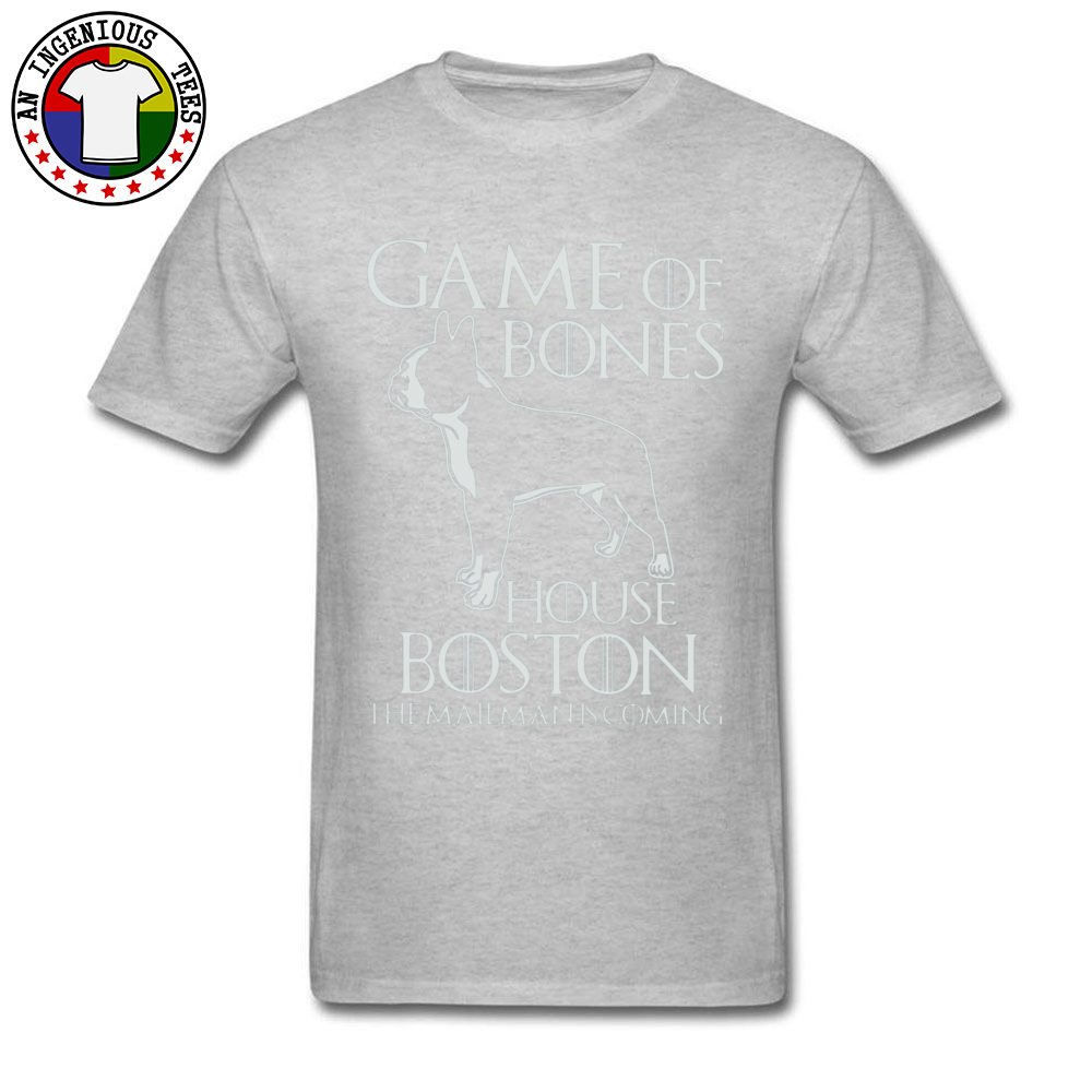 Game of bones house bosto24521 Tees Brand O Neck Slim Fit Short Sleeve 100% Cotton Fabric Mens Top T-shirts Unique Tops Tees Game of bones house bosto24521 grey