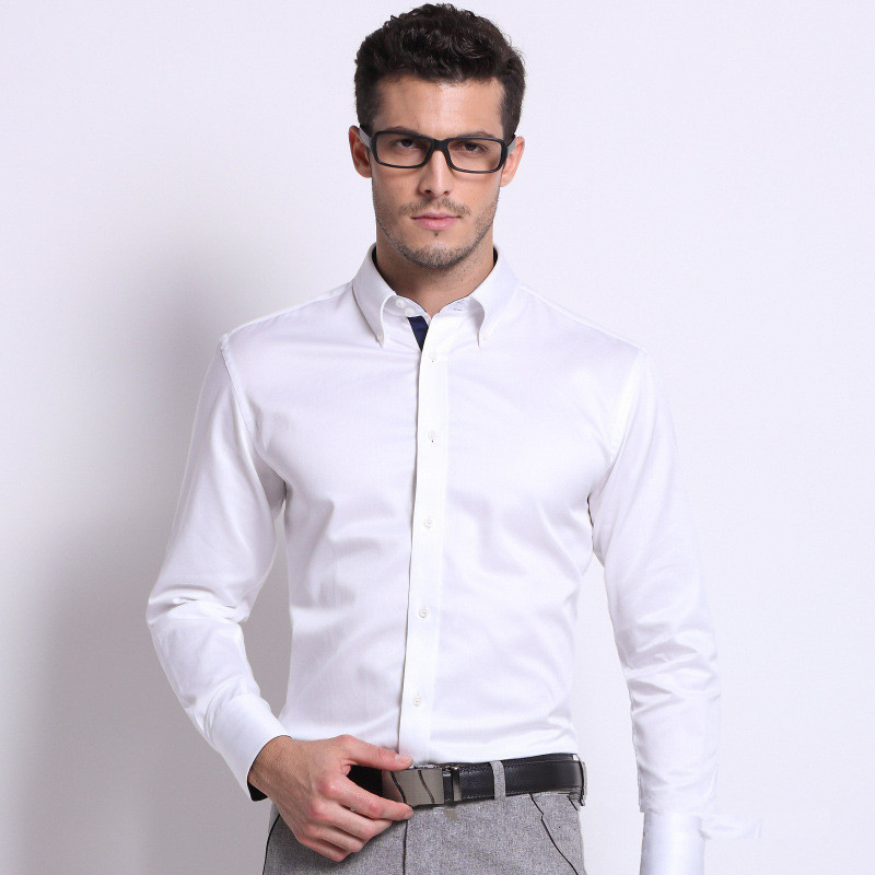 Brand Mk 2017 Men S Long Sleeve Clic Fitness Slim Dress Shirt Formal Shirts Vestidos Office For Man Freeshipping In From