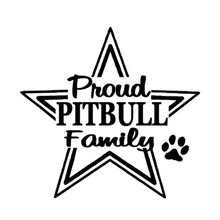 14cm * 14.6cm For Proud Pit Bull Family Stickers Lovely Fashion Personality Creative Vinyl Sticker