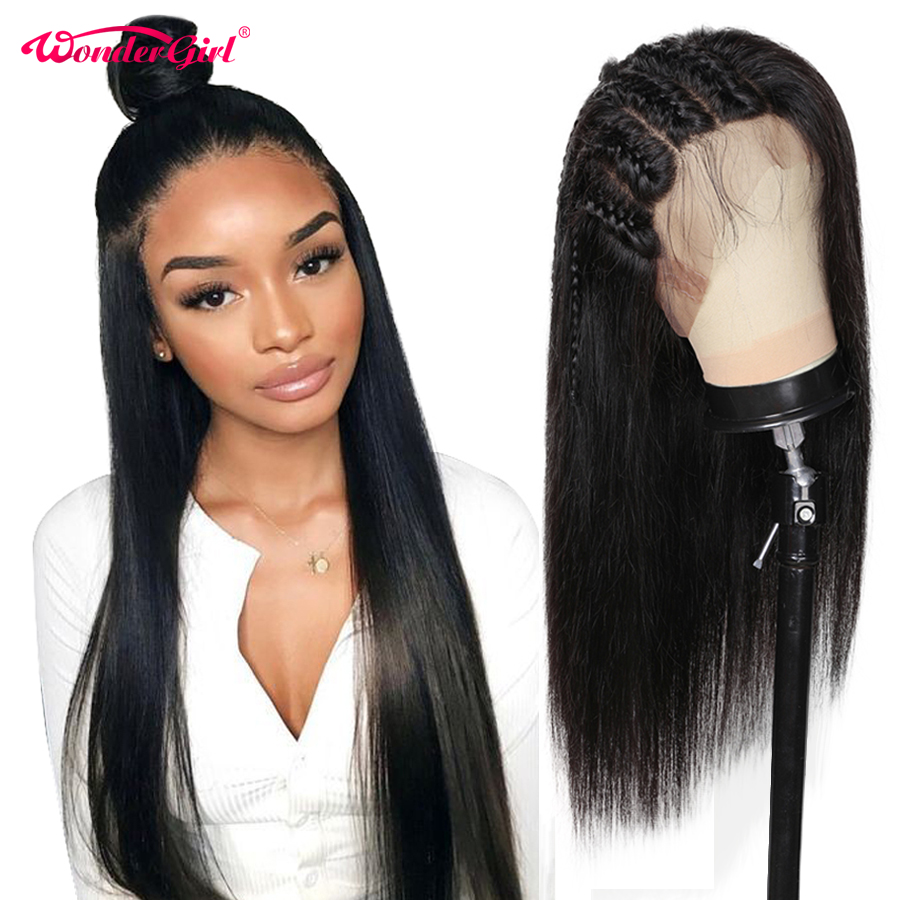 250 Density 360 Lace Frontal Wig Pre Plucked Remy Peruvian Straight Lace Front Human Hair Wigs For Black Women Wonder Girl