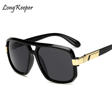 Long Keeper Square Sunglasses Men Luxury Brand Design Couple