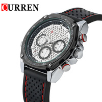 2014 Curren Quartz Army Military Mens Business Casual Wrist Watches Black Silver Case Vogue Watches High