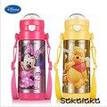 380ml Disney vacuum thermos kids drink bottle straw bpa free