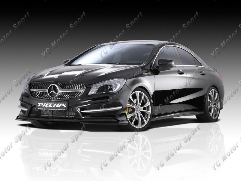 2013-2014 Mercedes Benz W117 C117 CLA Class Piecha Style Front Bumper Canard CF (13)