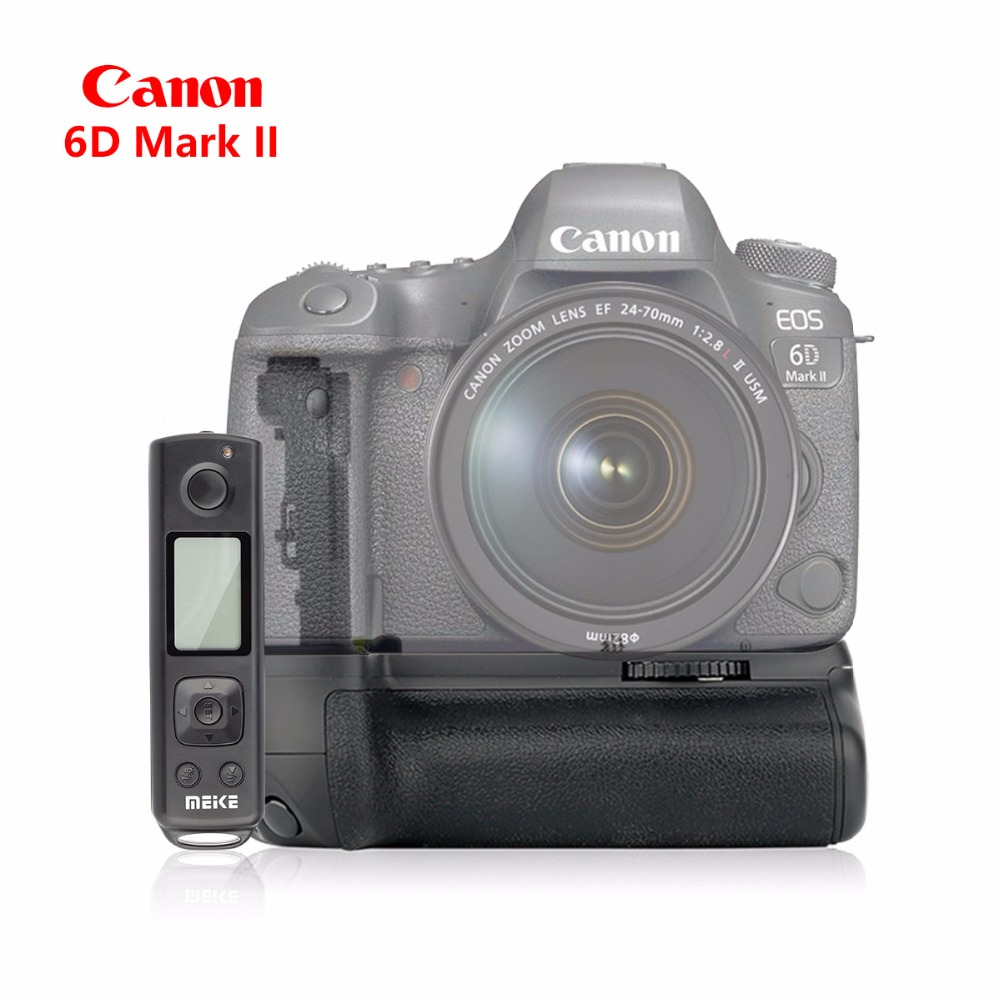 Meike MK-6DII Pro Battery Grip Built-in 24g Wireless Control for Canon EOS 6D Mark II 6D2 as EG-E21