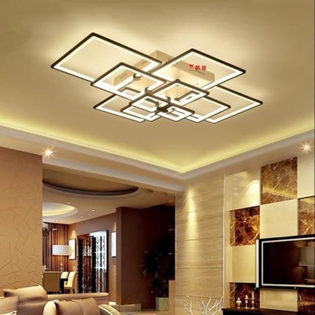 Modern LED ceiling lights Rectangle Acrylic aluminum ceiling lamp for living room bedroom home decorative AC85-265V