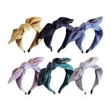 Korean Boutique Hairband Rabbit Ears Cloth Bow Headband Women Girls Hair Head Hoop Bands Accessories For Girl Fancy headbands цены