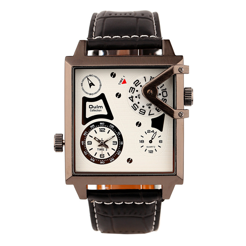 Oulm Authentic Tag Brand Watches Mens Stainless Steel