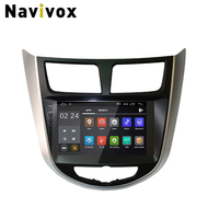 Navivox Android 8.1 Car Dvd Player For Hyundai Solaris Verna 2011 15 Radio tape recorder Video Gps WIFI RDS usb audio