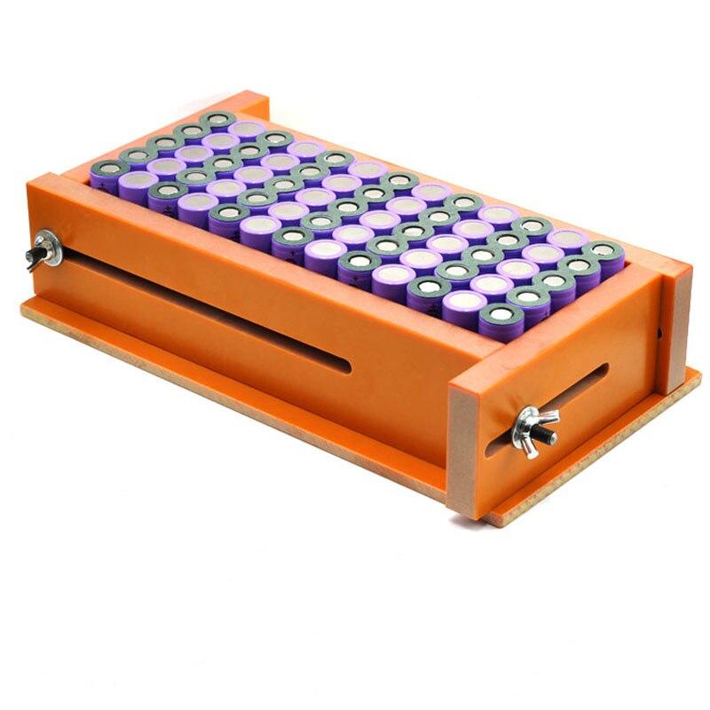 Tüketici Elektroniği'ten Pil Aksesuarları'de Kalınlaşmış 6*13 titizlikle üretilen 18650 lityum pil nokta kaynak fikstür fikstür lityum pil montaj fikstürü