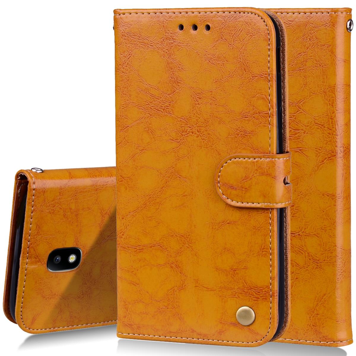 Galleria fotografica for Samsung Galaxy J3 2017 J330 Flip PU Leather Cases for Samsung J3 2017 Wallet Bag Phone Case Cover Etui