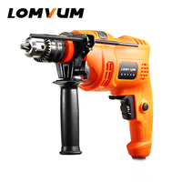 LOMVUM Electric Screwdriver Rechargeable Impact Drill Electric Cordless Drill Tool Power Driver Household DIY Power Drill