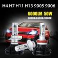 Oslamp H4/H7/H11/H13/9005/9006 50 W 6000lm DEL CREE LED Bombillas de Los Faros Del Coche fichas Auto Faros de Niebla de Luz 12 v 24 v 3000 K/6500 K/8000 K