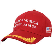 New Make America Great Again Donald Trump Campaign Hat Embroidered Red Cap(China)